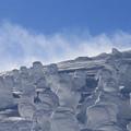 Photos: 舞い上がる雪煙