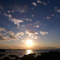 Photos: 森戸海岸からの夕日