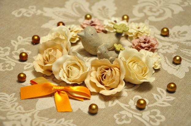 小鳥とお花..★.:*