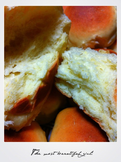 写真: さつま芋のちぎりパン