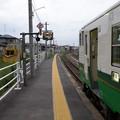 Photos: JR石巻線 キハ48形 渡波駅-1