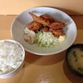 写真: ルイタ食堂 日替わり(串かつ定食)