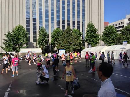 北海道マラソン ファンラン待機場所