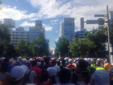 北海道マラソン スタート前