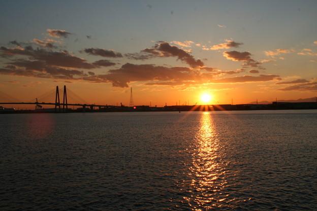 写真: 20081120藤前の夕日