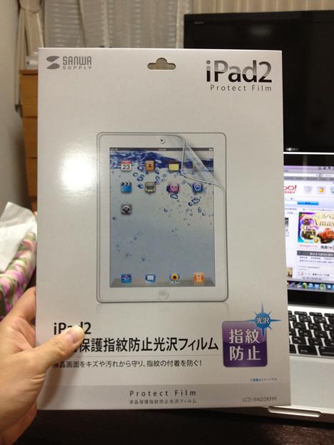 iPad2 液晶保護フィルム iPhone4s撮影