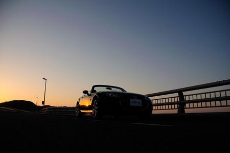 Roadster at Tsunoshima bridge