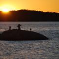 写真: Rocks and the Seagull 9-23-12