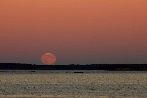 写真: Moonrise 9-19-13