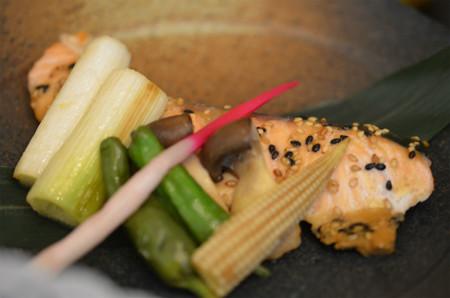 1日目昼食:鮭の利久焼き