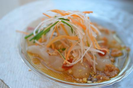 1日目夕食:鯛の中華風カルパッチョ
