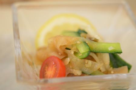 4日目昼食:大根と海月の葱風味