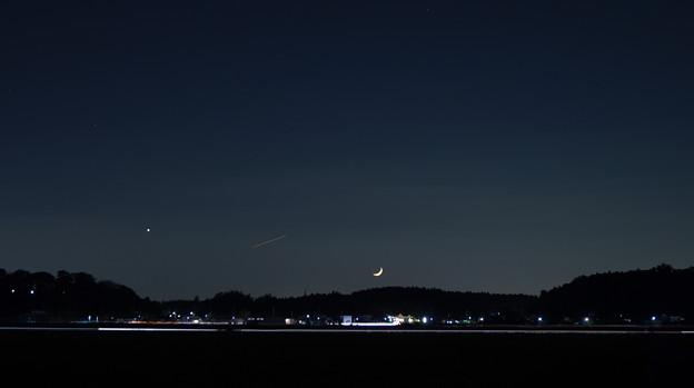 月の入りと金星