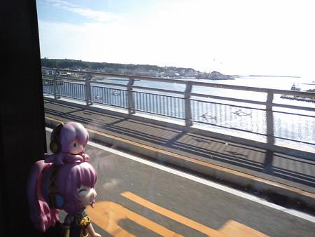 ルカ:「城ヶ島大橋を渡ってます!」