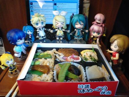 熊本駅停車、3分遅れ。昼食は新大阪駅で買った「近畿味めぐり弁当」(...