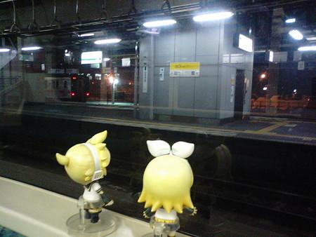 弘前駅に停車。1分遅れ。