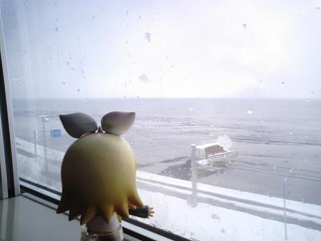 木古内→函館間、渡島当別付近。この辺だ、踏み切り事故があったのは...