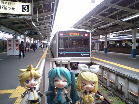 藤沢駅に到着しました。小田急江ノ島線に乗り換えて、高座渋谷まで参...
