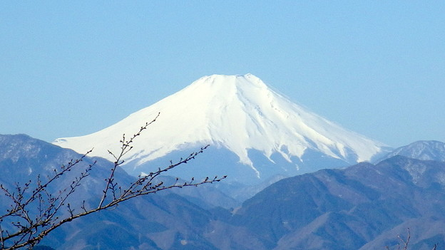 140323 高尾山頂からの富士山@741