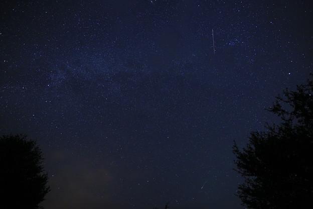 ペルセウス座流星群(北の空)