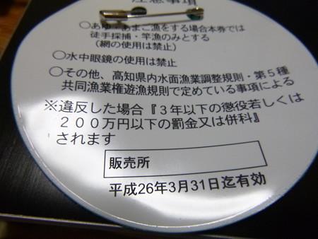 25年度 四万十川遊漁券