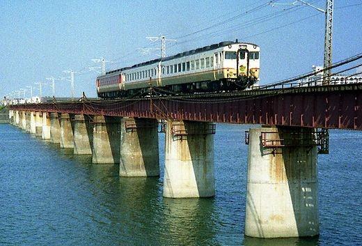 1989宮崎 宮崎発博多行き 急行えびの4号 5614D キハ58×2+キハ65