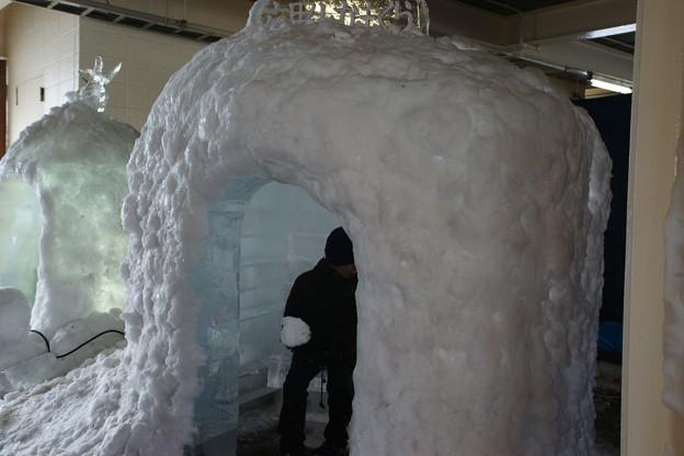 氷のかまくら