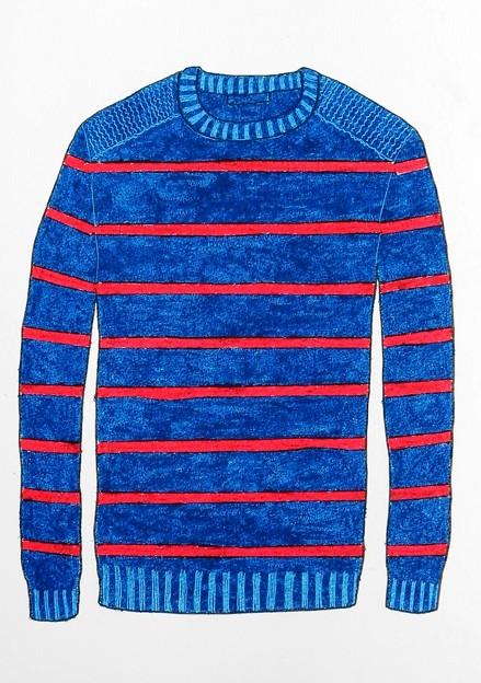 潮風に向うセーター