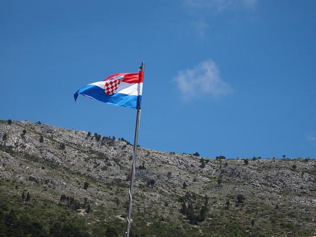 国旗を掲げて