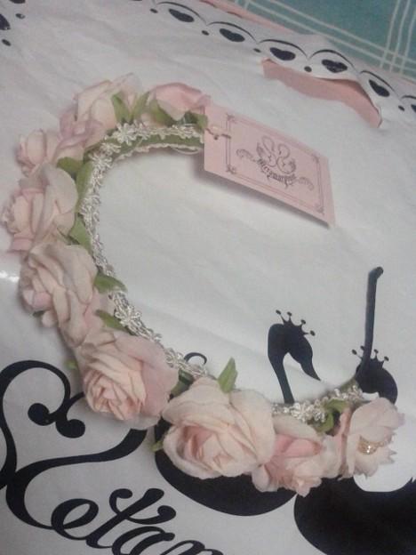 今日買ったメタモのvarie roseカチューシャのピンク。可愛い(*´ω`*)