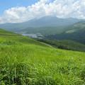 写真: 車山から白樺湖を望む
