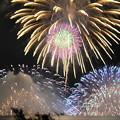 写真: 諏訪湖花火2012