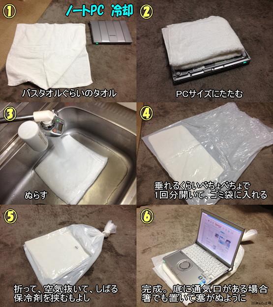 タオルとゴミ袋でPC冷却