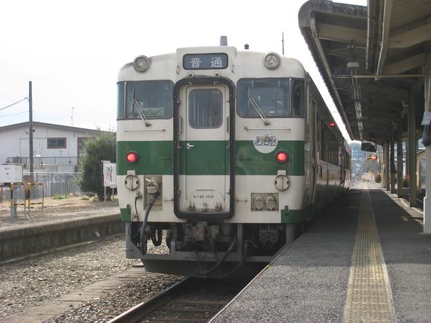 烏山線 キハ40形 烏山駅