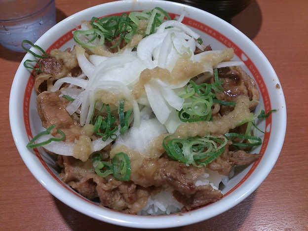 生姜醤の焼き牛丼