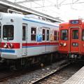 京成3300形 3348F(こち亀ラッピング車)・3312F(ファイヤーオレンジ)