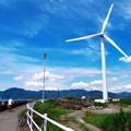 写真: 安倍川河口の風車その2