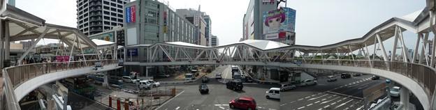 阿倍野歩道橋パノ