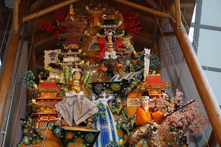 01 博多祇園山笠 飾り山 博多駅 2013年 女戦士八重の桜写真06