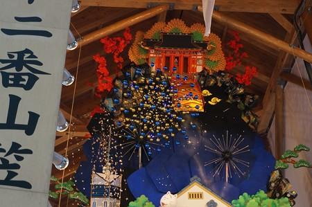 02 博多祇園山笠 飾り山 博多駅 2013年 サザエさん写真19花火