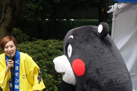2013年7月26日 福岡市役所ふれあい広場 山鹿市観光物産展 山鹿灯籠まつり くまモン04