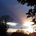 Photos: 2012-11-1 畑からの帰りに見た夕陽(携帯)