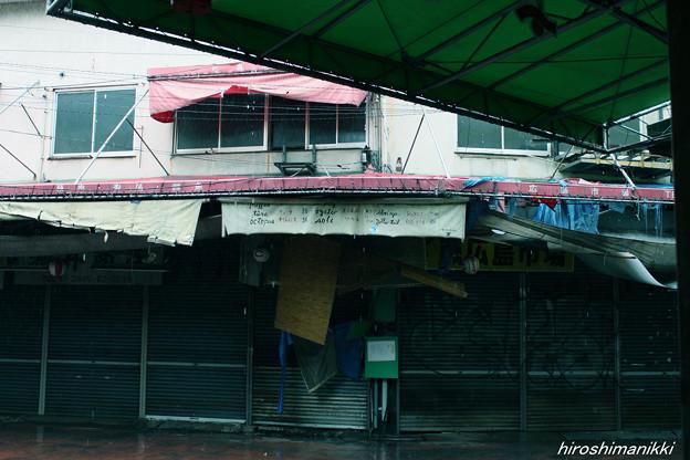 愛友市場20131103・雨の市場