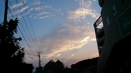 きれいな夕焼け雲!