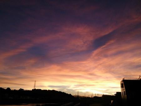 今日の夕焼けはとてもきれい♪
