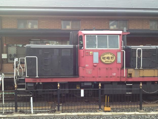 写真: 嵯峨野トロッコ列車