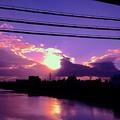 Photos: 川と夕焼け
