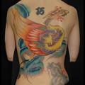大阪 タトゥー 刺青 刺青画像/女性タトゥー/鳳凰/背中