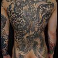 大阪 タトゥー 刺青 背中一面 刺青画像,タトゥー,四神,背中一面,龍,白虎,玄武,鳳凰