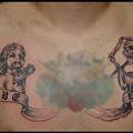 タトゥー 大阪 刺青 タトゥー画像,ブラック&グレー,天使,死神,文字タトゥー